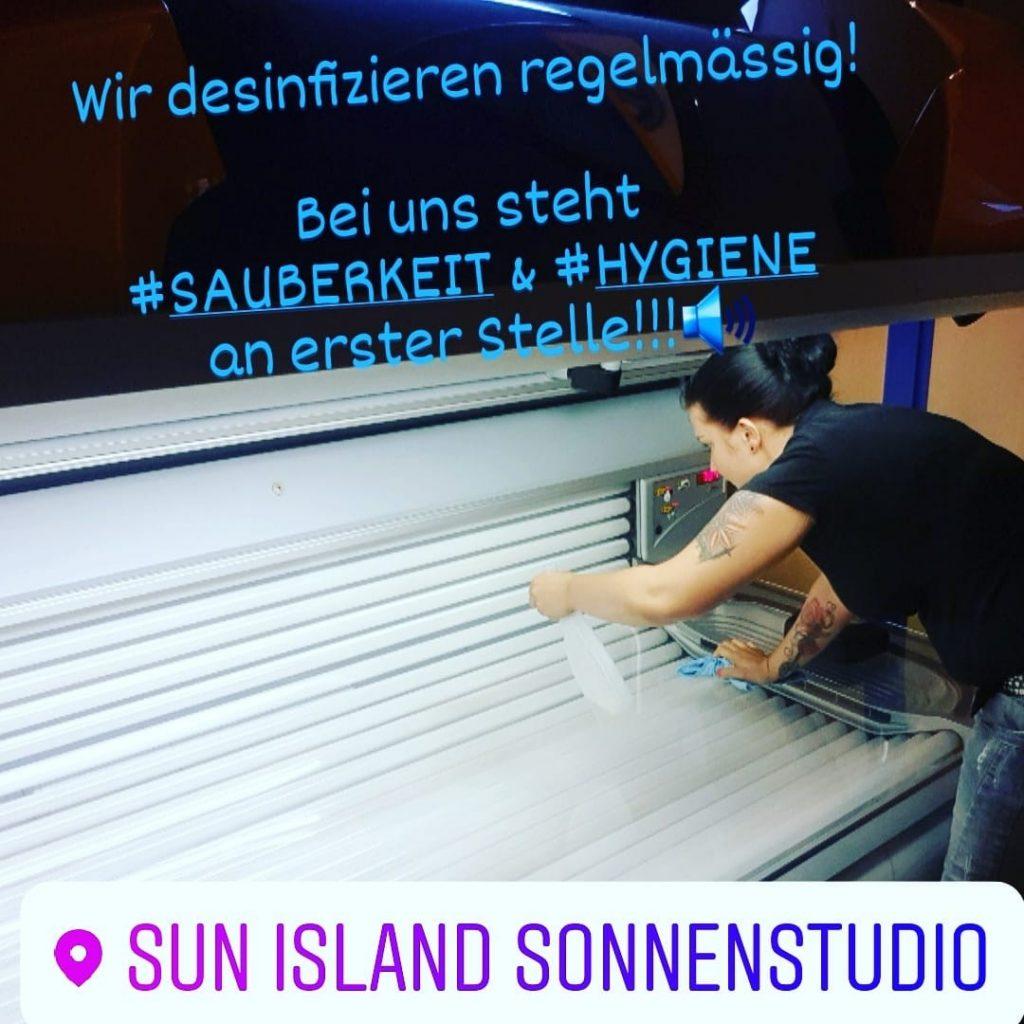 Sauberkeit & Hygiene - Sun Island Sonnenstudio